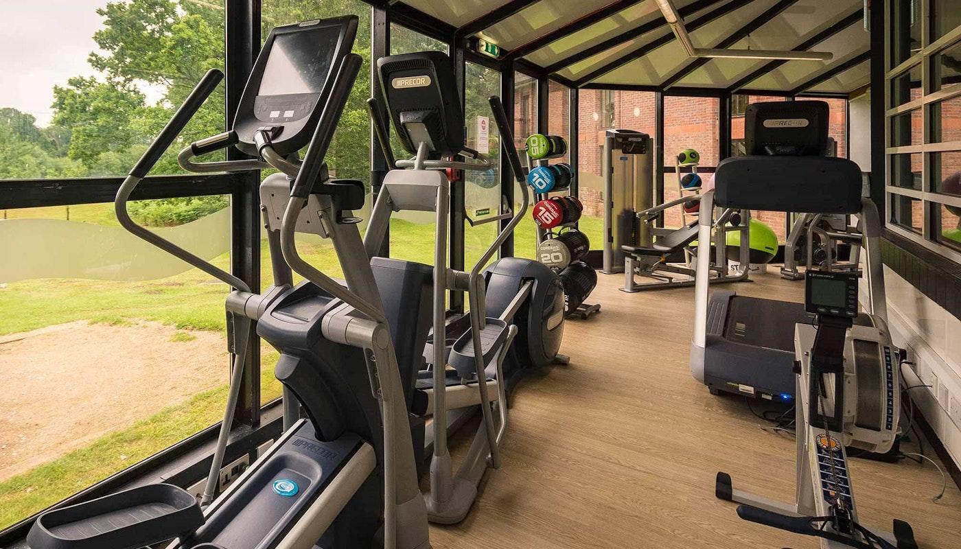Mini gym at the Hilton Cobham