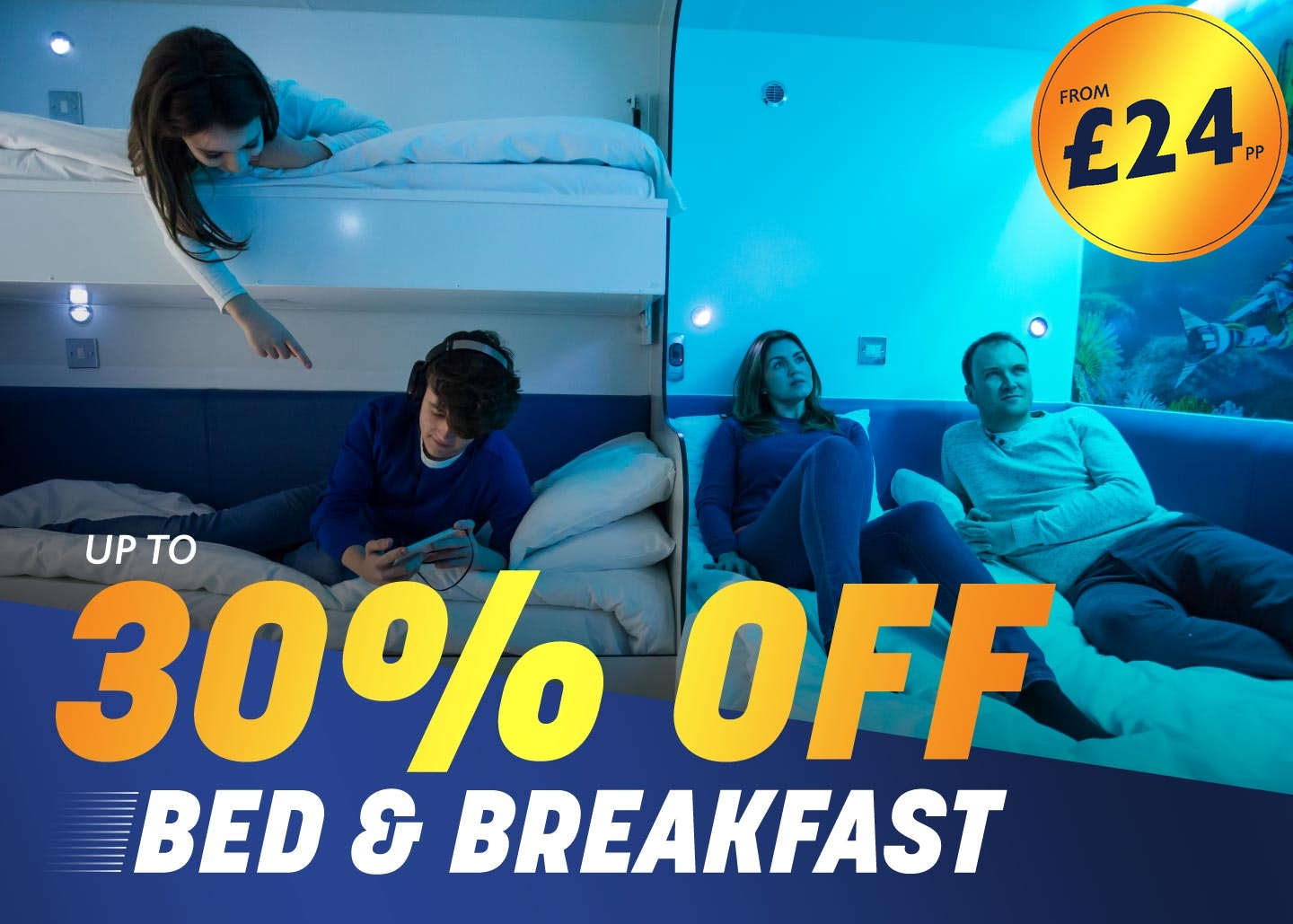 Bed and Breakfast package with Thorpe Breaks