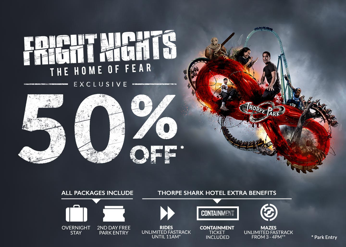 FRIGHT NIGHTS Flash Sale with Thorpe Breaks