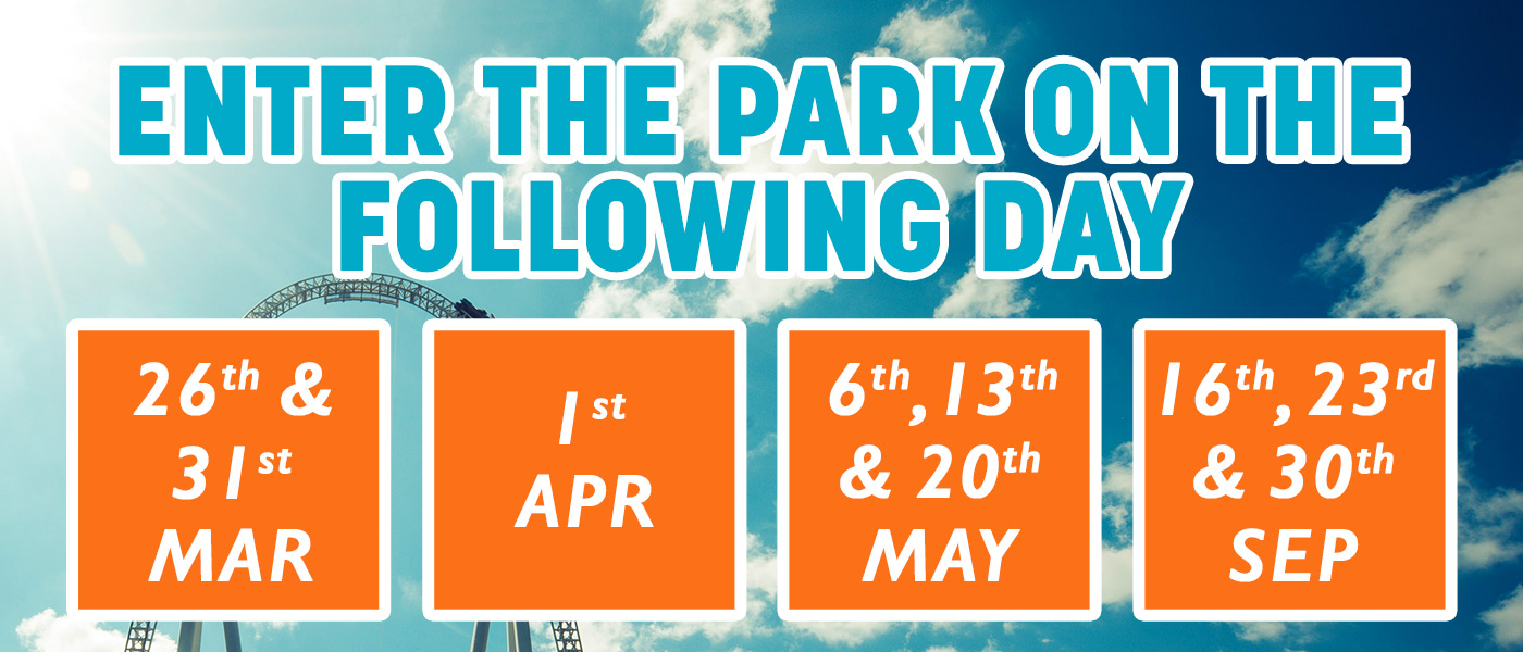 Following day Supercharge dates at Thorpe Park
