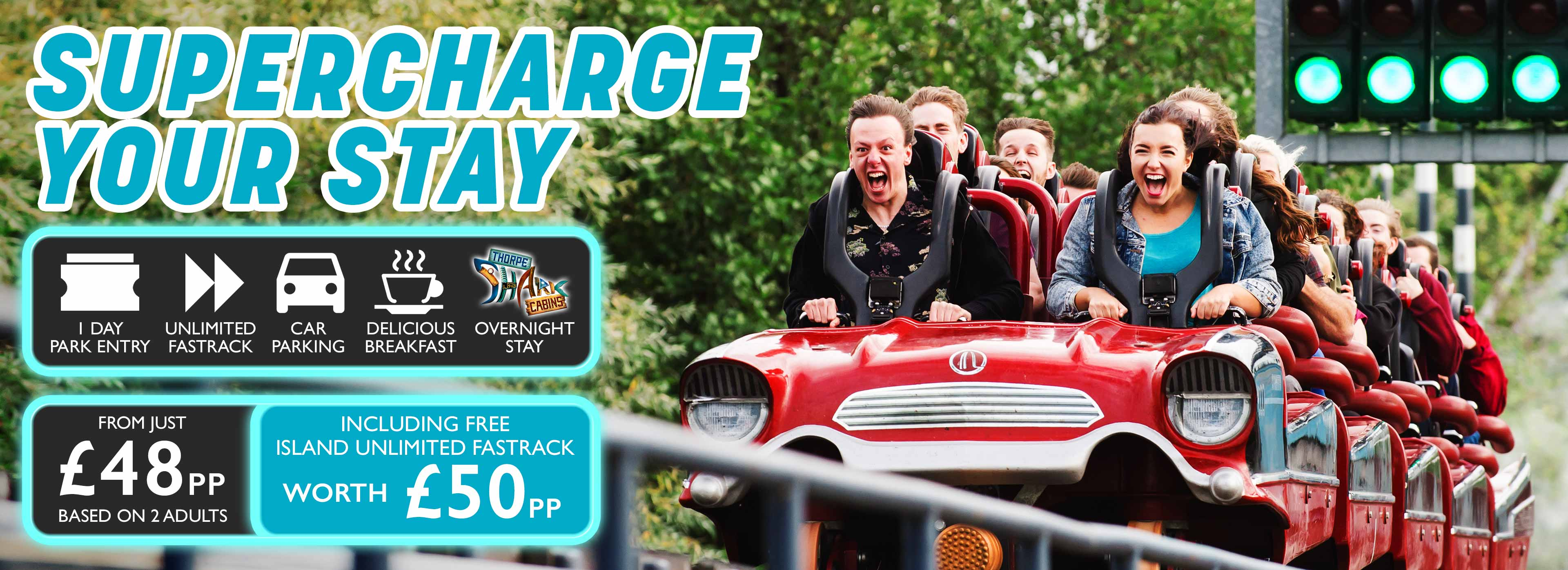 Supercharge your stay at Thorpe Park